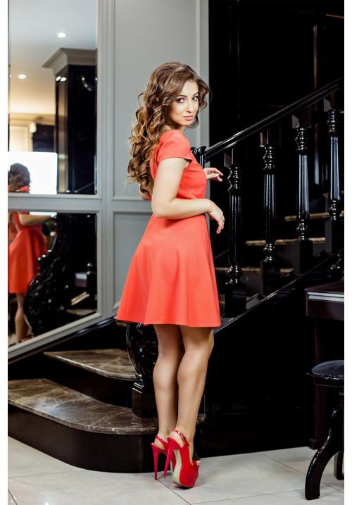 "Платье ""Лолита"", морковный, мини"