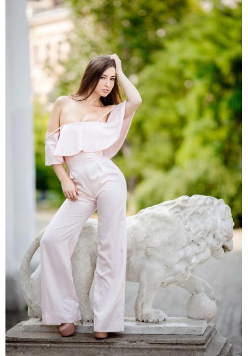"""Комбинезон """"Альба"""", розовая пудра"""