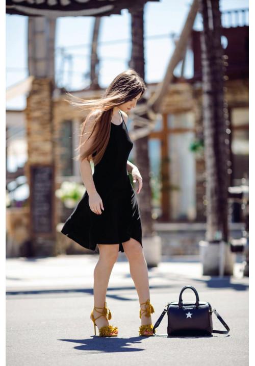"""Платье """"Александра"""", черный, трикотаж"""