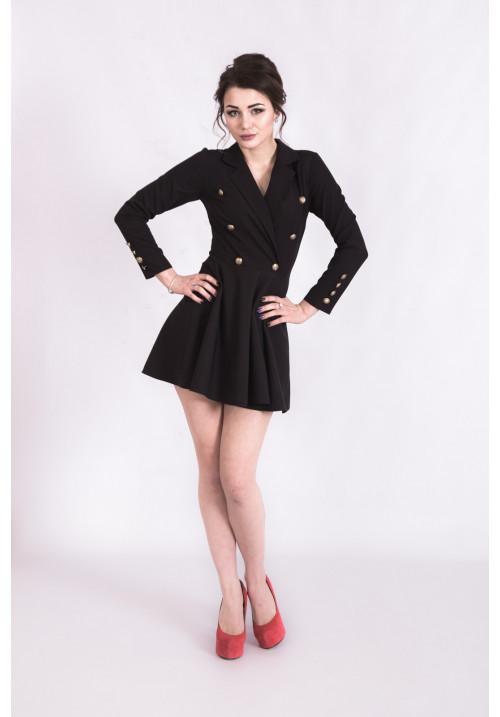 """Платье """"Wild City"""", черное, коттон"""