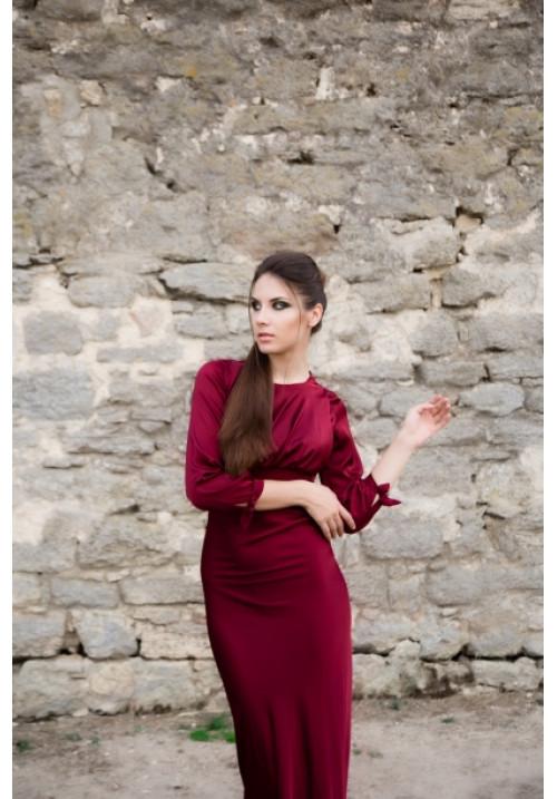"""Платье """"Квинси"""", шелк, бордо"""