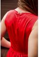 "Платье ""Лена"", красное, шелк, миди"