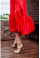 """Платье """"Рома"""", красное, шелк, миди"""