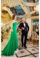 "Платье ""Марина"", зеленое, креп-шелк"