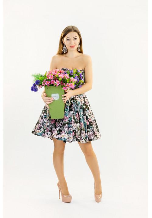"""Платье """"Динара"""", цветочный принт, мини"""