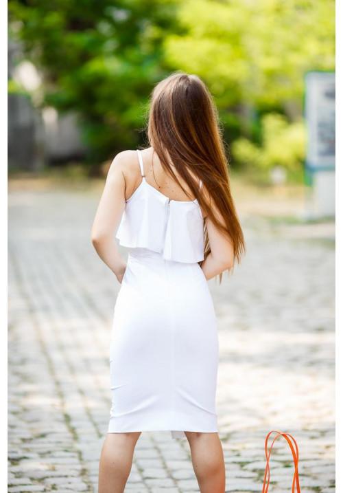 """Платье """"Кристи"""", белое, котон"""