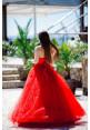 """Платье """"Лучия"""", красный, фатин"""